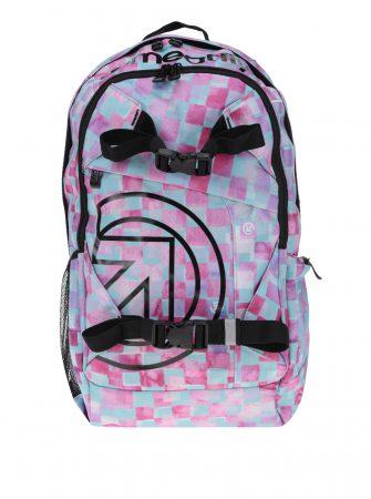 Zeleno-růžový dámský kostkovaný batoh Meatfly Basejumper 3 20 l - Batohy c0119f7782