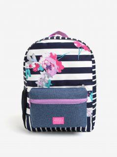 Modro-bílý holčičí pruhovaný batoh s potiskem Tom Joule