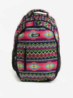 Zeleno-fialový dámský vzorovaný batoh LOAP Lian 20 l