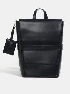Tmavě modrý koženkový batoh Bobby Black