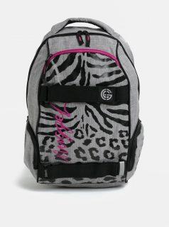 Černo-šedý dámský vzorovaný batoh NUGGET Bradley 24 l