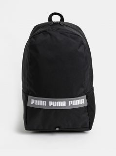 Černý batoh s potiskem Puma 25 l