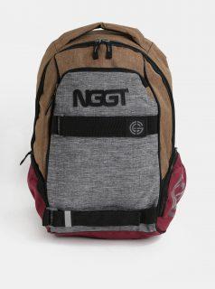 Hnědo-šedý žíhaný batoh Nugget 24 l