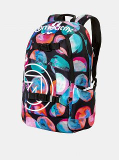 Černý batoh s barevnými puntíky a penálem 2v1  Meatfly 20 l
