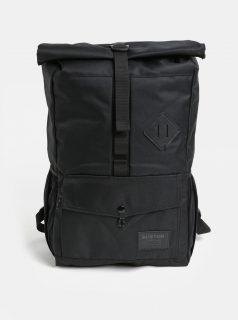 Černý batoh s koženkovou nášivkou Burton 25 l
