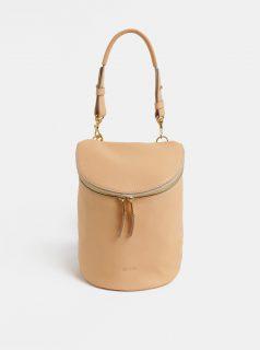 Béžový kožený batoh BREE Stockhlolm