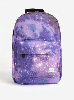 Fialový dámský batoh s motivem galaxie Spiral Galaxy Saturn 18 l