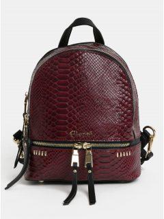 Černo-vínový vzorovaný batoh s detaily ve zlaté barvě Gionni Jade