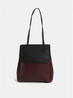 Černo-vínová kableka/batoh s odnímatelnými popruhy Claudia Canova Simone