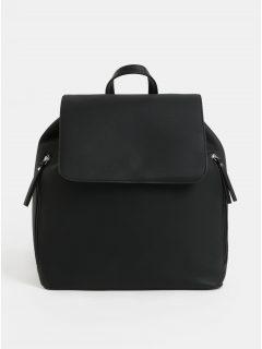 Černý koženkový vakový batoh Pieces Kiko