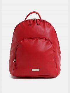 Červený koženkový batoh s přední kapsou ZOOT