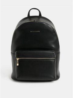 Černý kožený elegantní batoh Smith & Canova