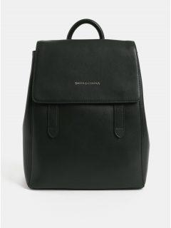 Tmavě zelený kožený elegantní batoh Smith & Canova