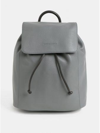 Světle šedý kožený vakový batoh Smith   Canova - Batohy 734360d2c8