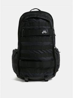 Černý voděodolný batoh s popruhy na skateboard Nike 26 l