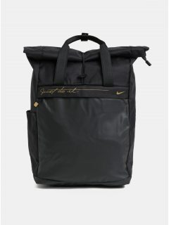 Černý dámský batoh s detaily ve zlaté barvě Nike18 l