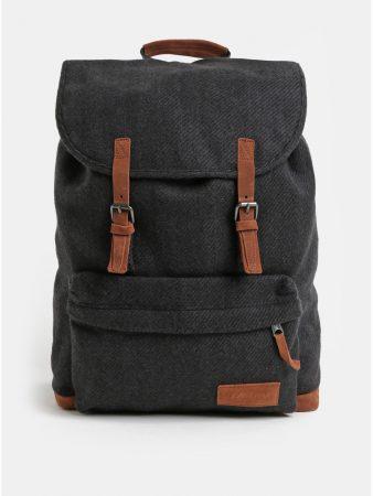 Tmavě šedý batoh se semišovými detaily Eastpak Fleather 21 l - Batohy e180f8dddc