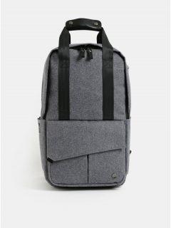 Šedý nepromokavý batoh s odnímatelnou vnitřní taškou na notebook 2v1 PKG 12 l