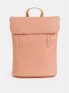 Růžový kožený batoh Smith & Canova Miza