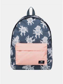 Šedý květovaný batoh Roxy Sugar Baby 16 l
