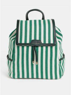 Krémovo-zelený pruhovaný batoh Paul's Boutique