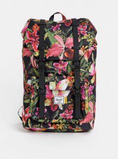Růžovo-černý dámský květovaný batoh Herschel Lil Amer 17 l