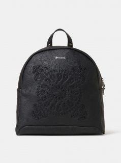 Černý batoh  s výšivkou Desigual Soft Bandana Venice