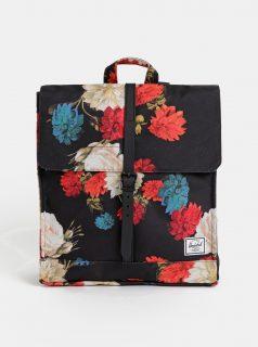 Černý dámský květovaný batoh Herschel Supply City 14 l