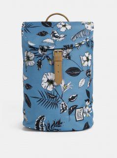 Modrý dámský květovaný batoh The Pack Society