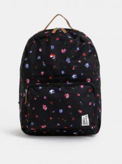 Černý květovaný batoh The Pack Society