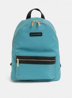 Tyrkysový batoh s koženými detaily Smith & Canova Marnie