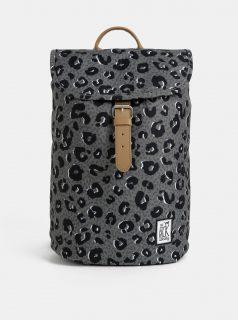 Šedý dámský batoh s leopardím vzorem The Pack Society 10 l
