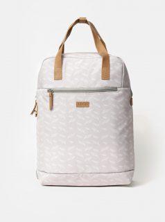 Světle šedý dámský vzorovaný batoh LOAP Reina 15 l