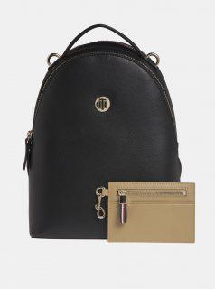 Černý dámský batoh s pouzdrem Tommy Hilfiger