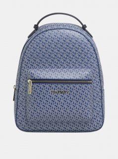 Modrý dámský vzorovaný batoh Tommy Hilfiger Iconic