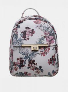 Vínovo-bílý květovaný batoh Bessie London