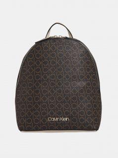 Hnědý dámský vzorovaný batoh Calvin Klein Jeans