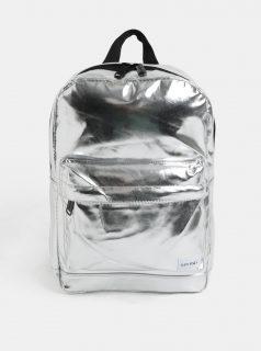 Dámský lesklý batoh ve stříbrné barvě Spiral Mini