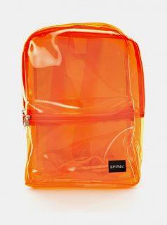 Oranžový transparentní batoh Spiral
