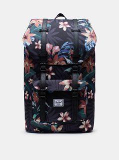Černý květovaný batoh Herschel Supply Little America 25 l