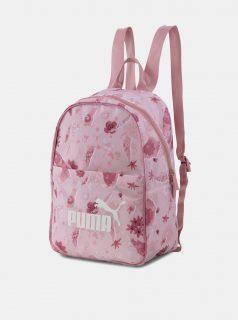 Růžový dámský květovaný batoh Puma