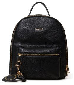 Desigual černý batoh Back Alegria Nazca Mini