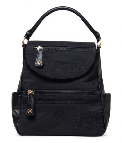 Desigual černý batoh s klopou Back Alkalina Positano