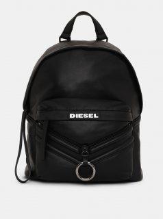 Černý kožený batoh Diesel