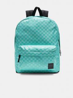 Světle zelený dámský kostkovaný batoh VANS
