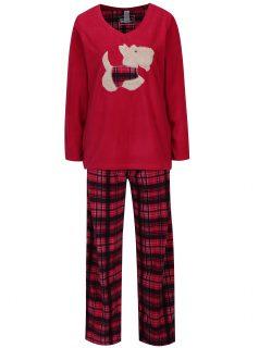 Tmavě růžové fleecové pyžamo M&Co