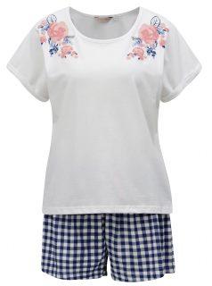 Modro-krémové pyžamo Dorothy Perkins