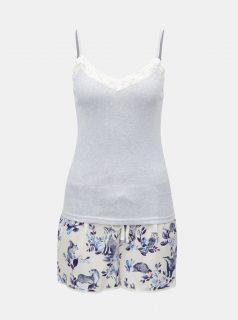 Bílo-modré dámské dvoudílné pyžamo Cath Kidston