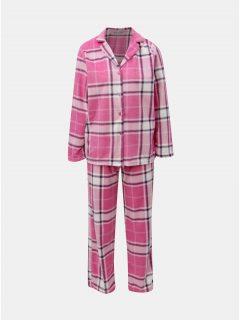 Růžové kárované dvoudílné pyžamo M&Co