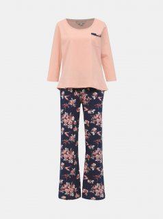 Růžovo-modré květované dvoudílné pyžamo Dorothy Perkins